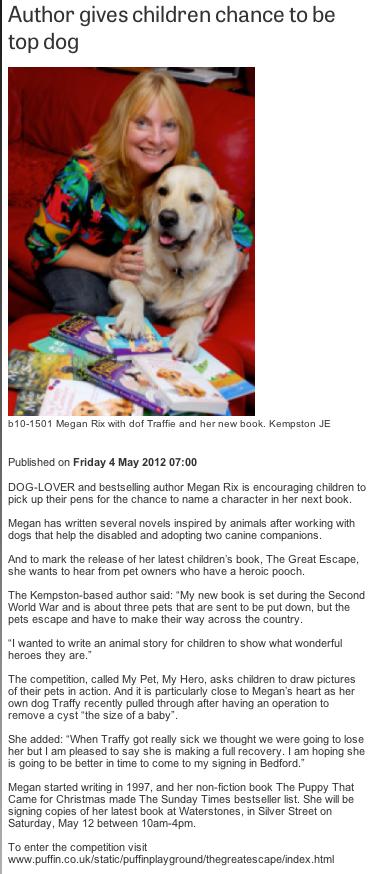 Bedford Times and Citizen Megan Rix feature